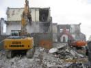 Rückbauarbeiten an der Donauklinik in Neu-Ulm