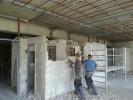 Entkernungsarbeiten eines Bettenhauses am Klinikum Sinsheim