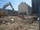 Rückbauarbeiten eines Wohngebäudes in der Donauwörther Straße in Augsburg