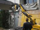 Entkernungsarbeiten am Ärztehaus in Hochdorf