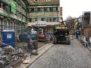 Rückbauarbeiten am Pflegeheim St. Afra in Augsburg
