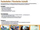 Wir suchen: Facharbeiter / Vorarbeiter (m/w/d)